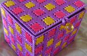 La cinta de caja de joyería/recuerdo lona plástica bordado (un regalo hecho a mano perfecto)