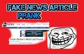 Falsa noticia broma
