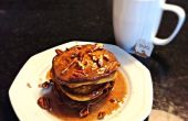 Tortitas de especia de calabaza libre de gluten con Arce glaseado de canela y