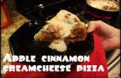 Pizza de postre de plato manzana-canela profundo