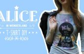 Camiseta Alicia en el país de las maravillas DIY