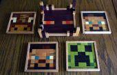 Posavasos madera Minecraft