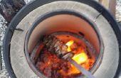 Horno tandoor de fumador barril