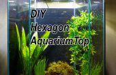DIY LED campana para un tanque 20 galones del acuario hexagonal