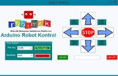 Consola de Control del Robot Arduino programa con visual basic