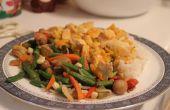 Delicioso y ligero naranja pollo
