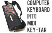 Convertir un teclado de computadora en un Keytar Midi