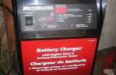 150 amp Motomaster batería cargador ventilador control diagnóstico y reparación