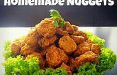 Nuggets caseros experimentados crujientes con dulce y la salsa agridulce!