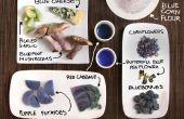 Azul alimentos! Cocina colorida sin colorantes artificiales