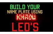 Nombre de la placa usando LED