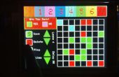 Motor de animación de pantalla TFT táctil y controlador de matriz de LED 8 x 8 RGB