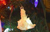Muñeco de nieve de adorno de concha