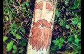 Talla de madera del espíritu del bosque