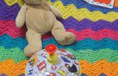 Cómo Crochet un colorido, ondulado, manta rayas