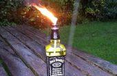 Quemador de Jack Daniels (inspirado en el vidrio botella Tiki Torch de tjesse)