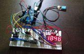 Digital reloj RTC en la exhibición de LED de 4 dígitos y 7 segmentos