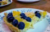 Tarta de frutas frescas piña-arándano
