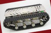 Pista de tanque de acero inoxidable con amortiguador de choque de amortiguación inteligente robot chasis