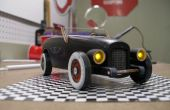Vintage faros y luces traseras para el coche de Derby Pinewoood