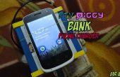 Alcancía Smartphone cargador (que todavía guarda dinero!)