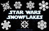 Cómo hacer copos de nieve de Star Wars