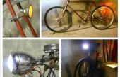 Luces bicicleta vintage a la conversión de LED