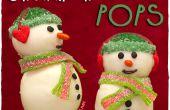 Muñeco de nieve pastel de Navidad Pops