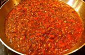 Salsa de tomate albahaca