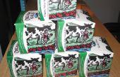 Envase de cartón de la leche reciclada