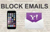 Bloquear mensajes de correo electrónico en Yahoo Mobile App