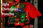 Encienden árbol de Navidad feo suéter/Poncho