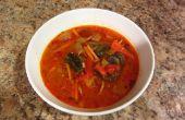 Sopa de pollo vegetal de coco tailandés