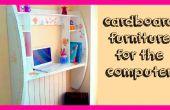 Manualidades bricolaje: Cómo hacer muebles de cartón para tutorial ordenador