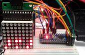 Reloj binario de Arduino usando LED Matrix