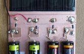 Un Simple Cargador Solar de hidruro metálico de níquel y las pilas alcalinas AA