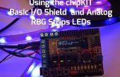 Con chipKIT base pletina de E/S analógica RGB tira de LEDs