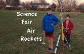 Cohetes de la feria aérea de ciencia