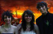 Retrato de la familia Zombie (con mascota del demonio)