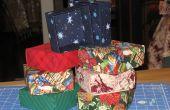 Hacer cajas de regalo de tela