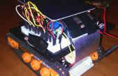 Linterna solar controlado robot tanque mini!