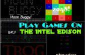 Jugar juegos en el Edison de Intel!
