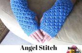 Angel punto dedo menos guantes – patrón de ganchillo gratis