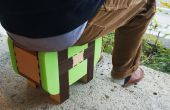 Taburete de madera carpintería (taburete de kumiki)