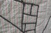 """""""Dibujo"""" sobre tela con hilo (también conocido como couching)"""