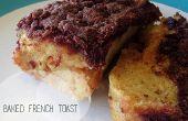Al horno receta de tostadas francesas