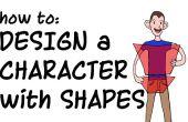 Diseño de un personaje de dibujos animados con formas