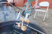 Bike-Powered asador escupir