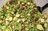 Acción de gracias Bruselas Sprout ensalada