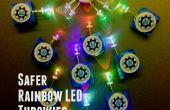 Construcción de los niños de la comunidad: Más segura del arco iris LED Throwies